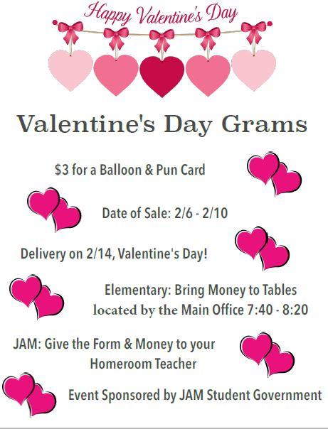 news post valentine's grams - doral academy - jam middle school, Ideas